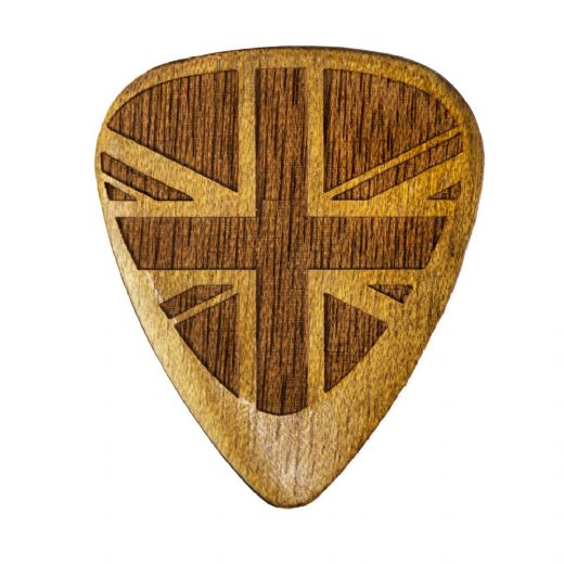 Flag Tones Union Jack Rose Apple 1 Guitar Pick